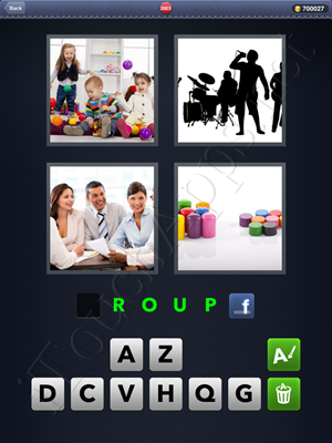 4 Pics 1 Word Level 2003 Solution