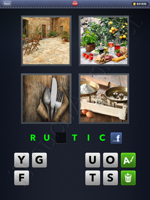4 Pics 1 Word Level 2165 Solution