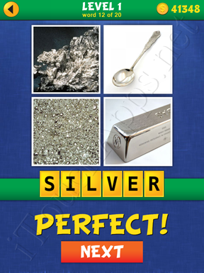 4 Pics Mystery Level 1 Word 12 Solution