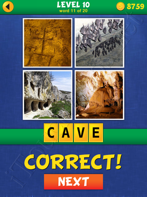 4 Pics Mystery Level 10 Word 11 Solution