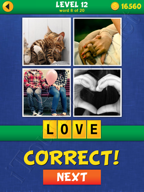 4 Pics Mystery Level 12 Word 8 Solution