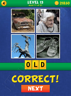 4 Pics Mystery Level 13 Word 11 Solution