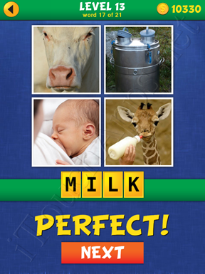 4 Pics Mystery Level 13 Word 17 Solution