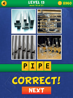 4 Pics Mystery Level 13 Word 18 Solution