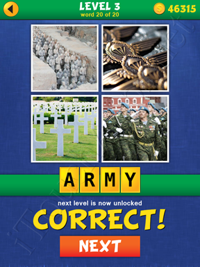 4 Pics Mystery Level 3 Word 20 Solution