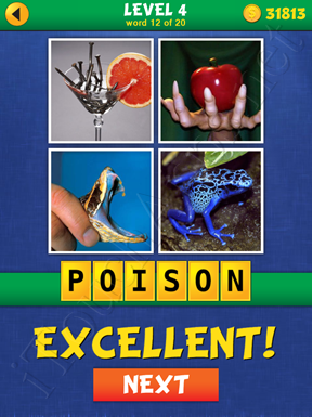 4 Pics Mystery Level 4 Word 12 Solution