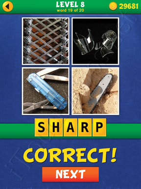 4 Pics Mystery Level 8 Word 19 Solution