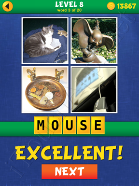 4 Pics Mystery Level 8 Word 3 Solution