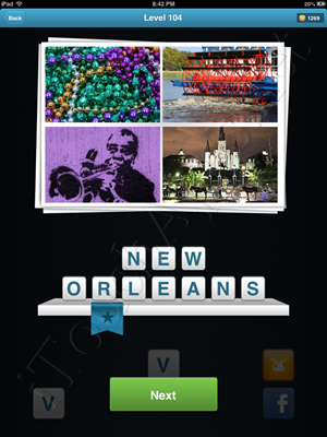 City Quiz Level 104 Solution
