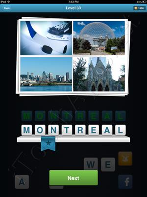 City Quiz Level 33 Solution
