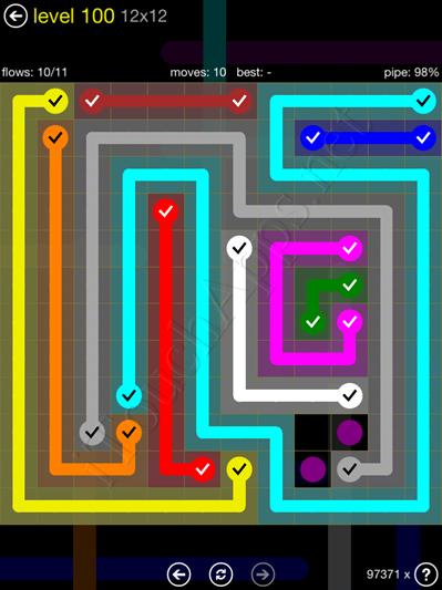 Flow Game 12x12 Mania Pack Level 100 Solution