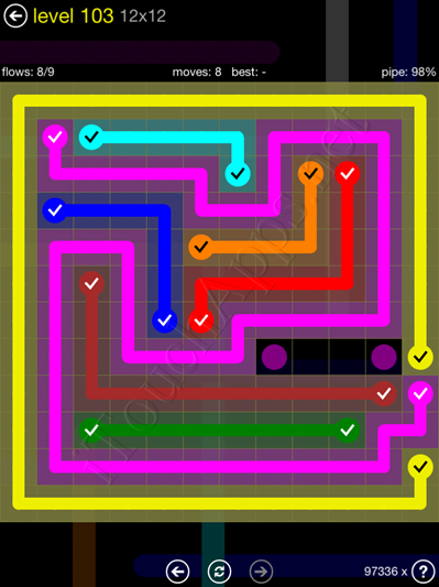 Flow Game 12x12 Mania Pack Level 103 Solution