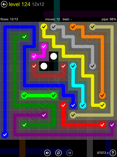 Flow Game 12x12 Mania Pack Level 124 Solution