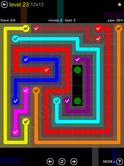Flow Game 12x12 Mania Pack Level 23 Solution