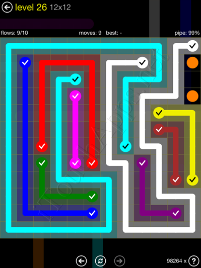 Flow Game 12x12 Mania Pack Level 26 Solution
