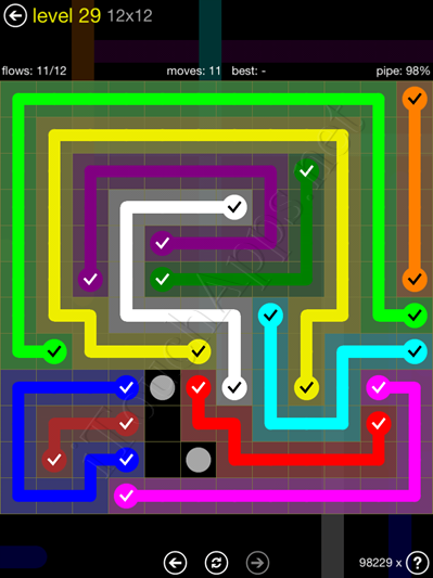 Flow Game 12x12 Mania Pack Level 29 Solution