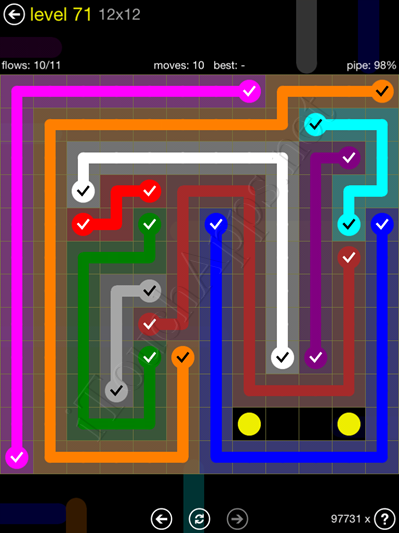 Flow Game 12x12 Mania Pack Level 71 Solution