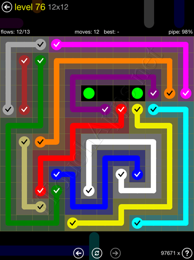 Flow Game 12x12 Mania Pack Level 76 Solution
