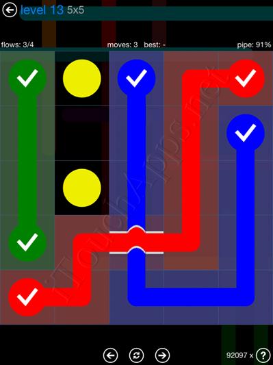 Flow Bridges Blue Pack 5x5 Level 13 Solution