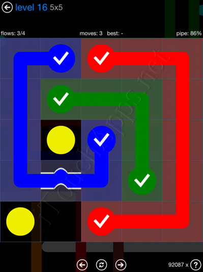Flow Bridges Blue Pack 5x5 Level 16 Solution