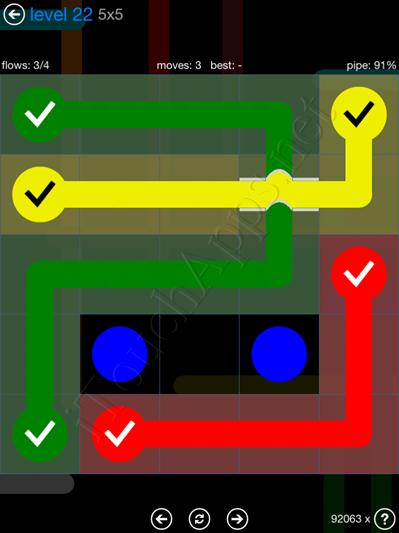 Flow Bridges Blue Pack 5x5 Level 22 Solution