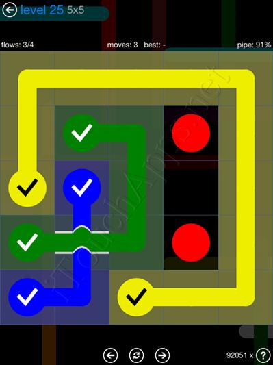 Flow Bridges Blue Pack 5x5 Level 25 Solution