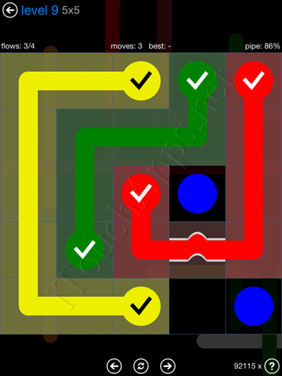 Flow Bridges Blue Pack 5x5 Level 9 Solution