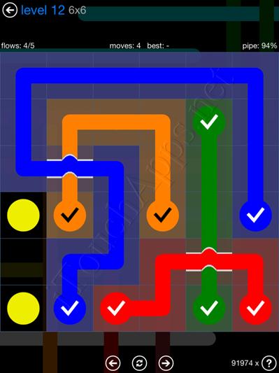 Flow Bridges Blue Pack 6x6 Level 12 Solution
