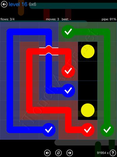 Flow Bridges Blue Pack 6x6 Level 16 Solution