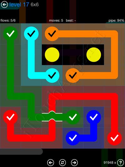 Flow Bridges Blue Pack 6x6 Level 17 Solution