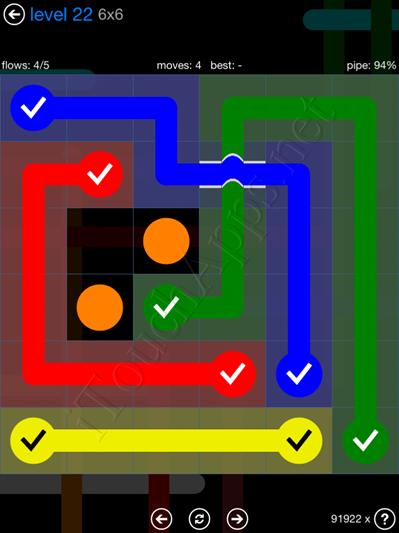 Flow Bridges Blue Pack 6x6 Level 22 Solution