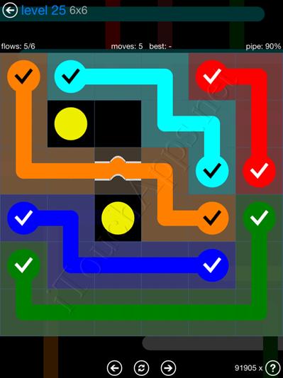 Flow Bridges Blue Pack 6x6 Level 25 Solution
