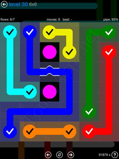 Flow Bridges Blue Pack 6x6 Level 30 Solution