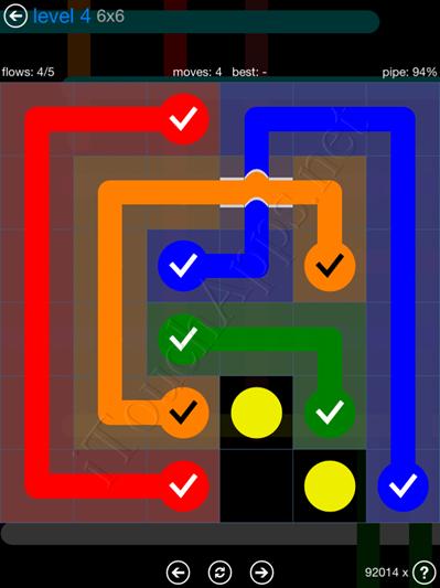 Flow Bridges Blue Pack 6x6 Level 4 Solution