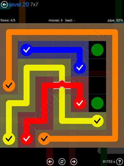 Flow Bridges Blue Pack 7x7 Level 20 Solution