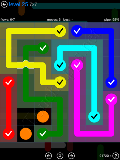 Flow Bridges Blue Pack 7x7 Level 25 Solution