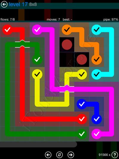 Flow Bridges Blue Pack 8x8 Level 17 Solution