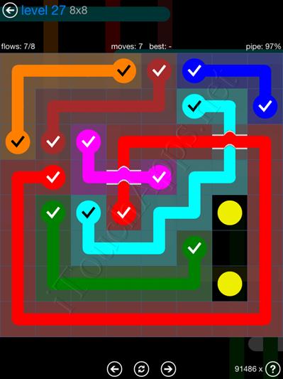 Flow Bridges Blue Pack 8x8 Level 27 Solution