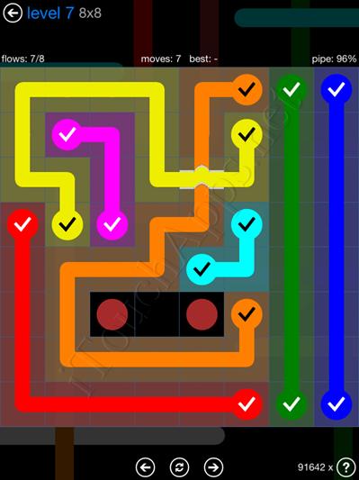 Flow Bridges Blue Pack 8x8 Level 7 Solution