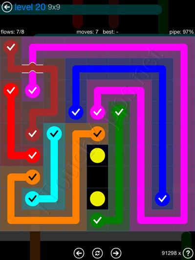 Flow Bridges Blue Pack 9x9 Level 20 Solution