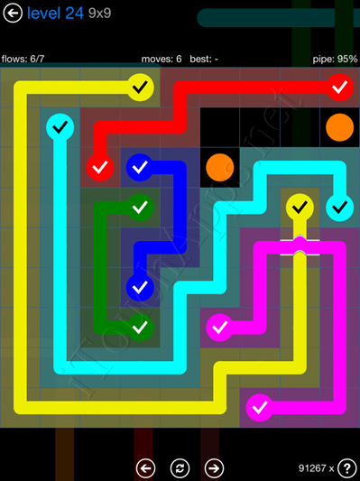 Flow Bridges Blue Pack 9x9 Level 24 Solution