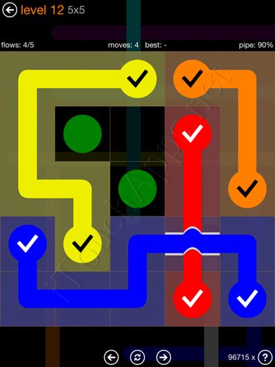 Flow Bridges Pack 5 x 5 Level 12 Solution