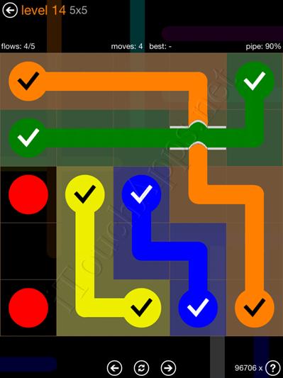 Flow Bridges Pack 5 x 5 Level 14 Solution