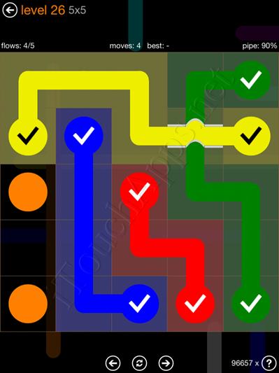 Flow Bridges Pack 5 x 5 Level 26 Solution