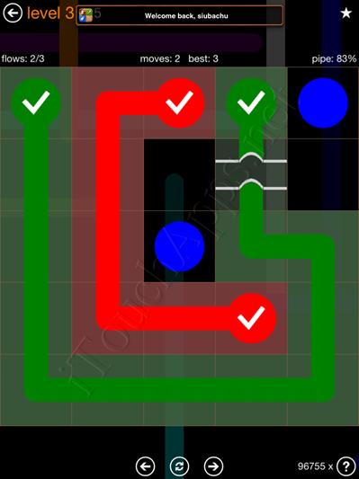 Flow Bridges Pack 5 x 5 Level 3 Solution