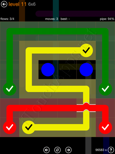 Flow Bridges Pack 6 x 6 Level 11 Solution