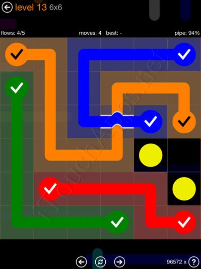 Flow Bridges Pack 6 x 6 Level 13 Solution