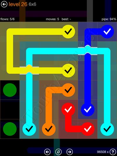 Flow Bridges Pack 6 x 6 Level 26 Solution