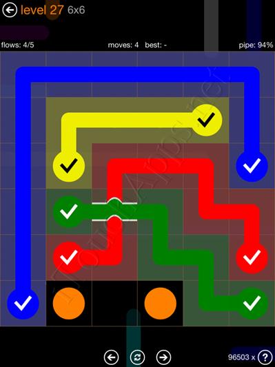 Flow Bridges Pack 6 x 6 Level 27 Solution