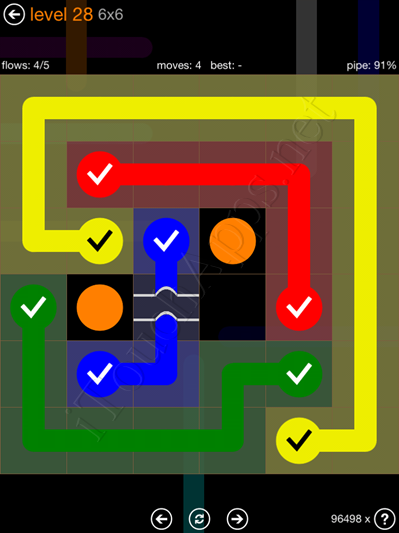 Flow Bridges Pack 6 x 6 Level 28 Solution